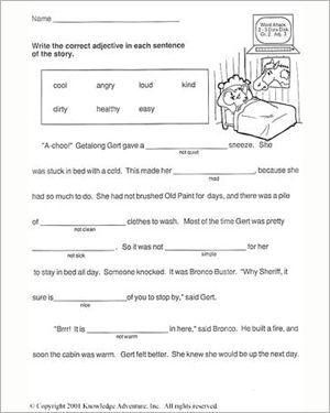 First Grade Vocabulary Worksheets | All Kids Network