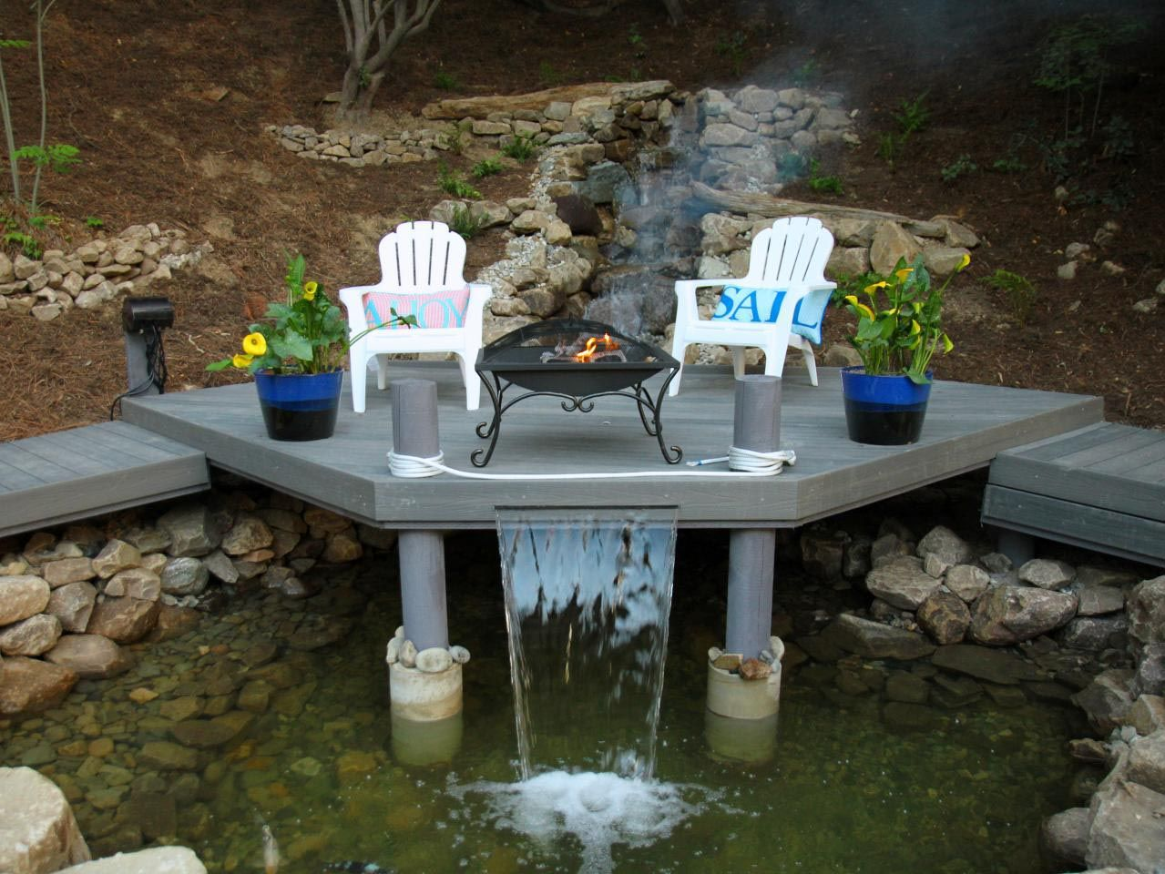 Fire And Water Yard Decoration | Water Fountain Plans. Gas Outdoor Fire Pit  Ideas.