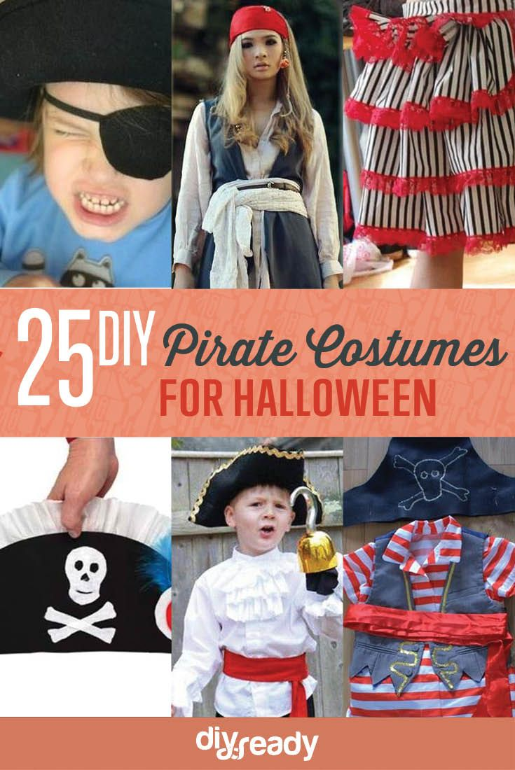 25 DIY Pirate Costume Ideas | Cheap And Creative Party Costumes You Can Make At Home by DIY Ready at http://diyready.com/25-argh-tastic-diy-pirate-costume-ideas