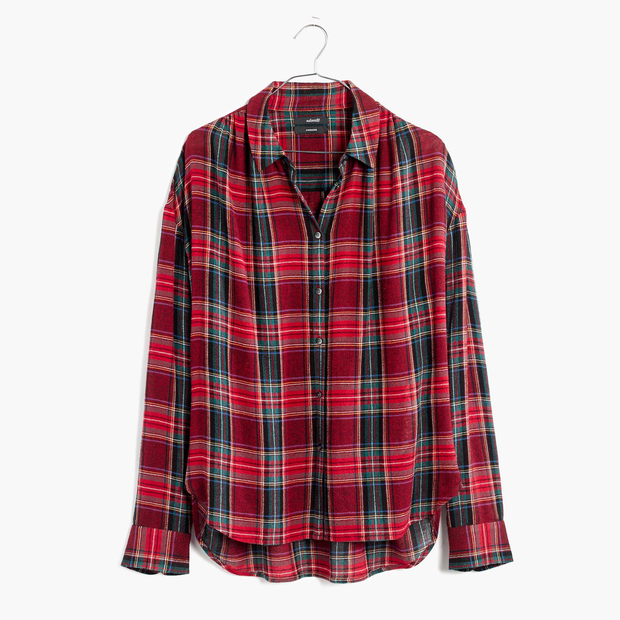 Button up flannel shirts  Central LongSleeve Shirt in Tartan Plaid  shirts u tops  Madewell