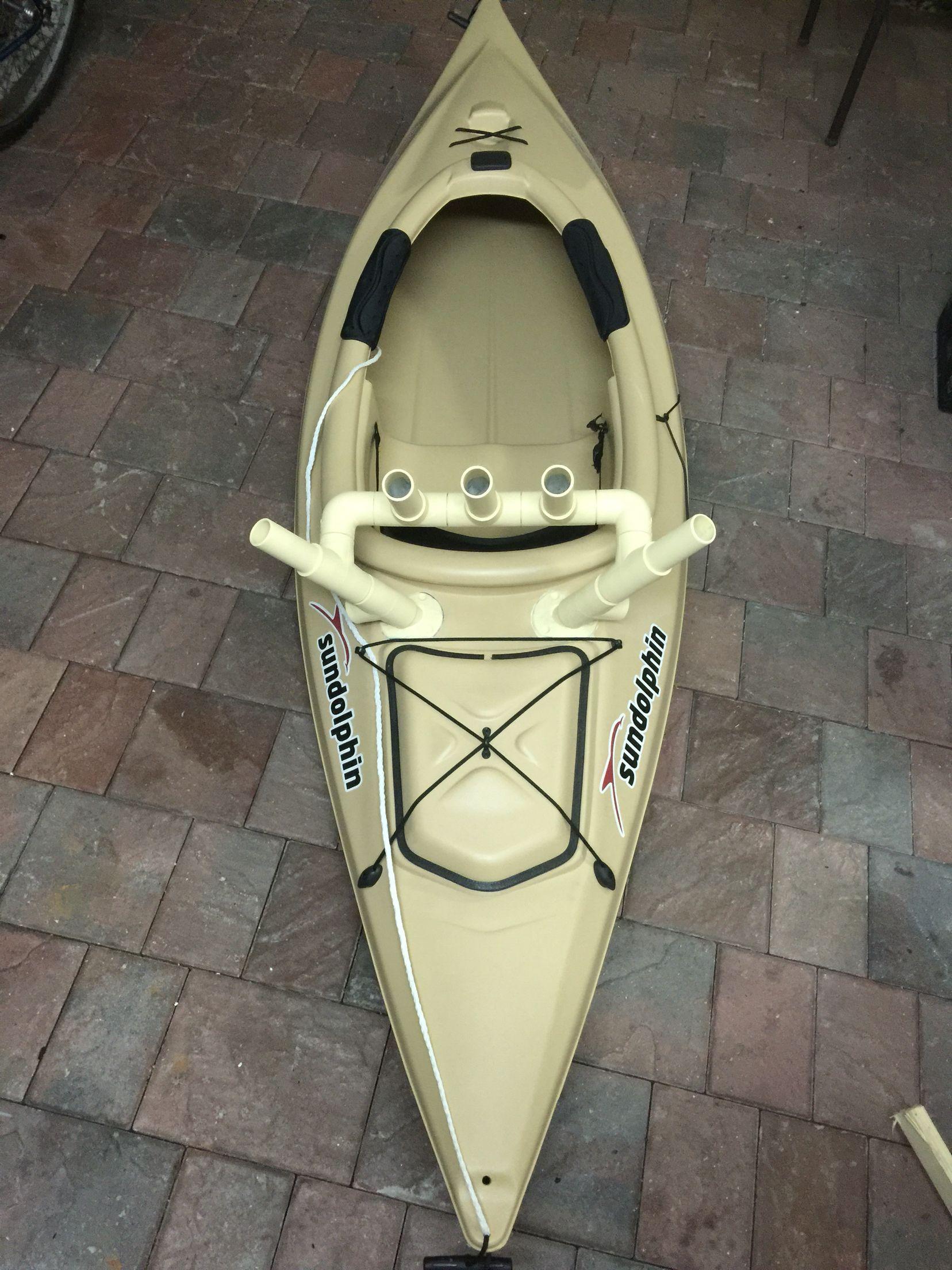 Diy kayak fishing rod holders kayak fishing diy fishing