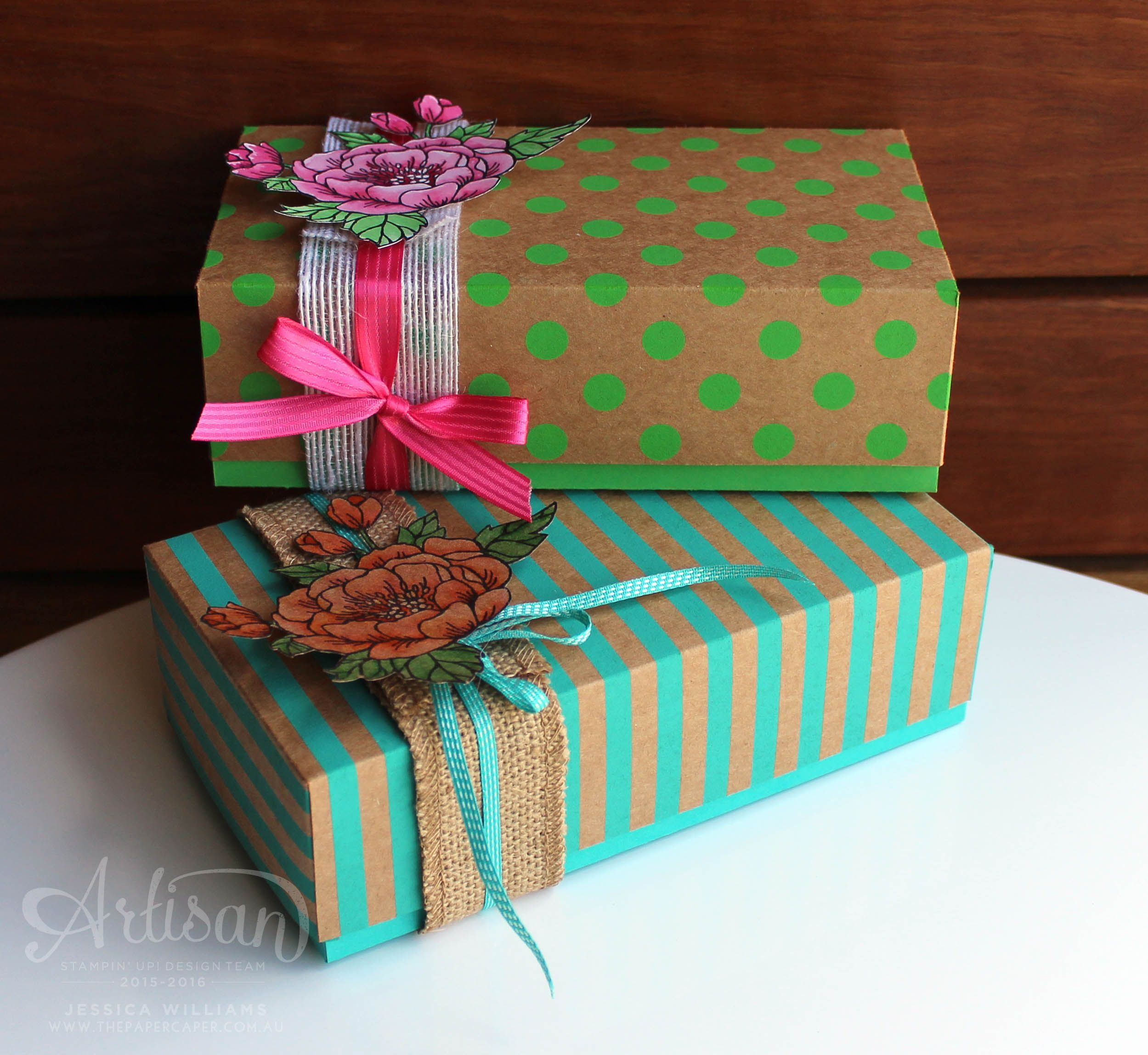 Artisan Design Team Blog Hop - Boxes and Blooms - The Paper Caper