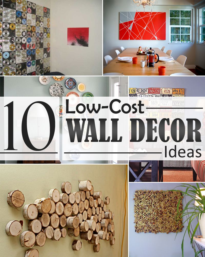 10 Low Cost Wall Decor Ideas That Completely Transform The Interior Design Of Your Home Diy Projects Apartment Diy Home Decor Easy Diy Wall Decor Cheap