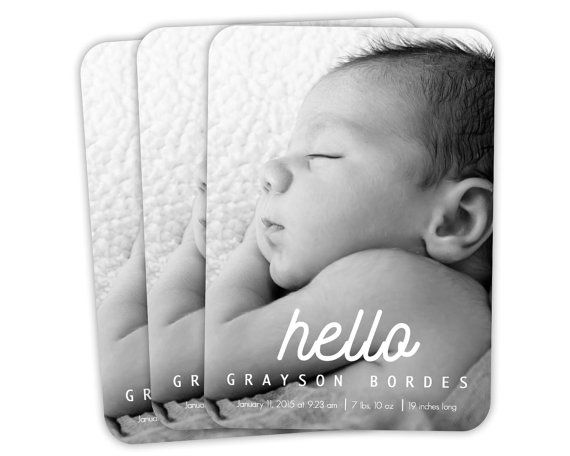 Getting Ready for Baby? Digital Personalized Baby Birth Announcement! - Create a modern announcement, customized for boy or girl, to let all your family and friends know your baby has arrived. Designed to print as a 5 x 7.  I'll do all the hard work for you. Let me know all your babies details in the notes when you purchase and email your image to teiesidd@gmail.com.  You will receive up to 3 proofs at no charge. There will be a $5.00 fee for any proofs after that.  Once we have finalized…