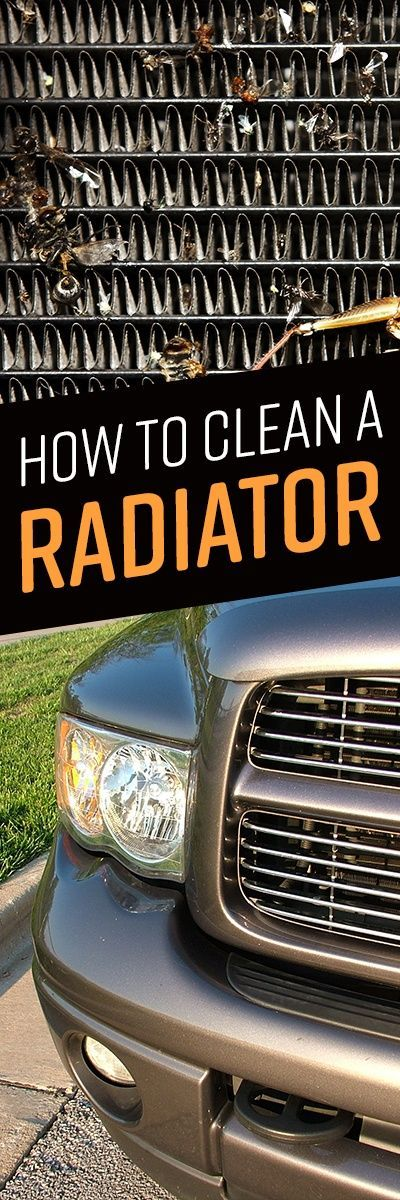 How to Clean a Radiator Radiators, Cleaning, Car radiator