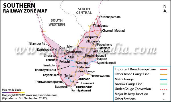 Southern Railway Map Of India.Southern Railway Zone Map Railway Maps Pinterest Southern