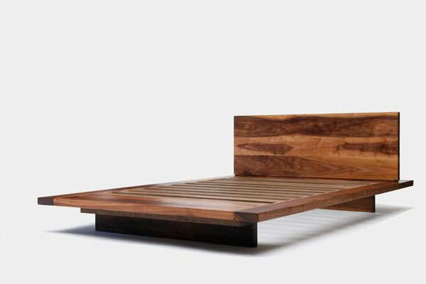 Liked The Walnut Another Super Easy Bed For Me To Build Not Crazy About Design Platform Bed Designs Walnut Bed Modern Bed