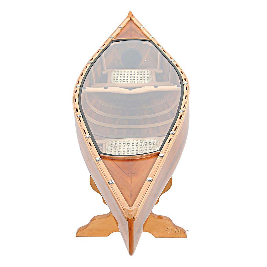 Canoe Coffee Table Glass Top 59 Cedar Wood Strip Built Boat Decor Boat Decor Wooden Canoe Wood Strips [ 924 x 924 Pixel ]