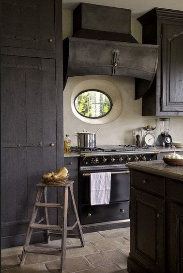 10 best images about cuisine grise grey kitchen on pinterest pastel industrial and modern fireplaces