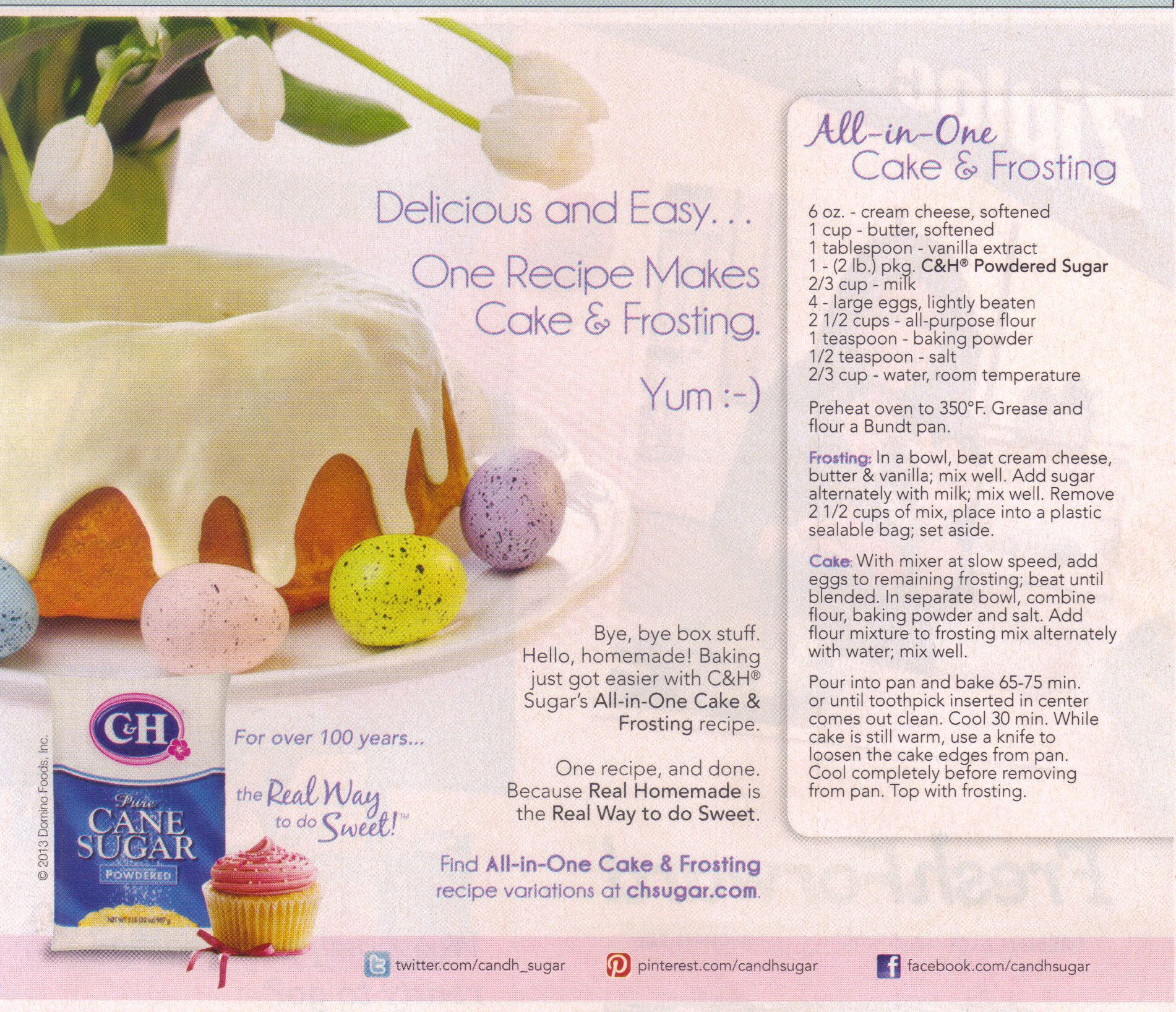 All-in-One Cake and Frosting