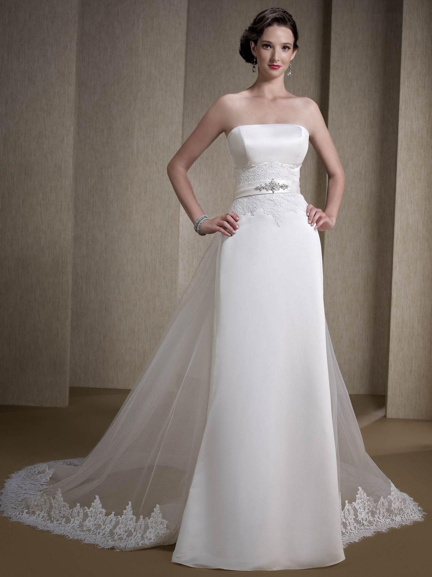 interesting wedding gown Detachable train wedding dress