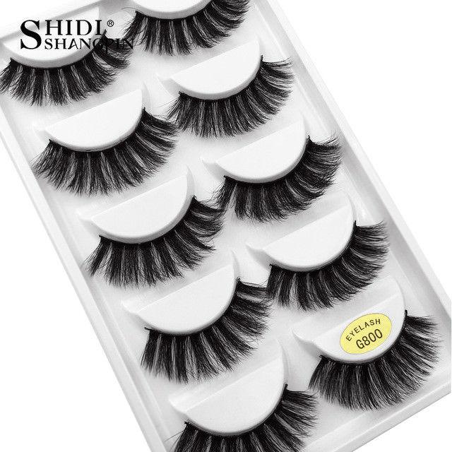 ae72a4a4874 $1.0 AUD - 5 Pairs Pack 3D Mink False Eyelashes Wispy Cross Long Thick Soft  Fake Eye Lashes #ebay #Fashion