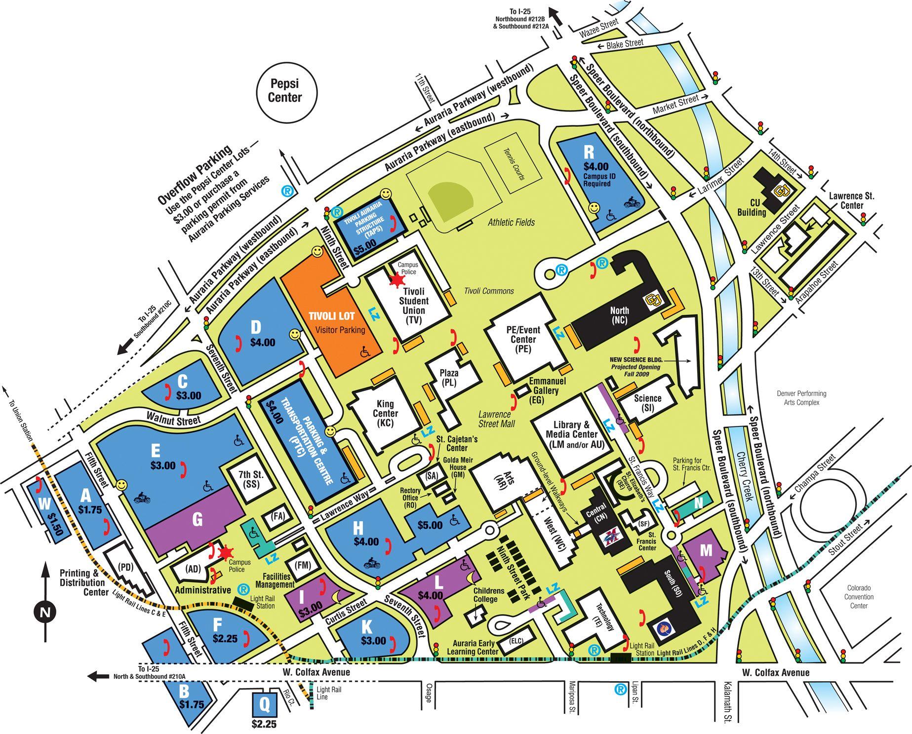 Campus Maps Google Search Maps Pinterest Denver Map