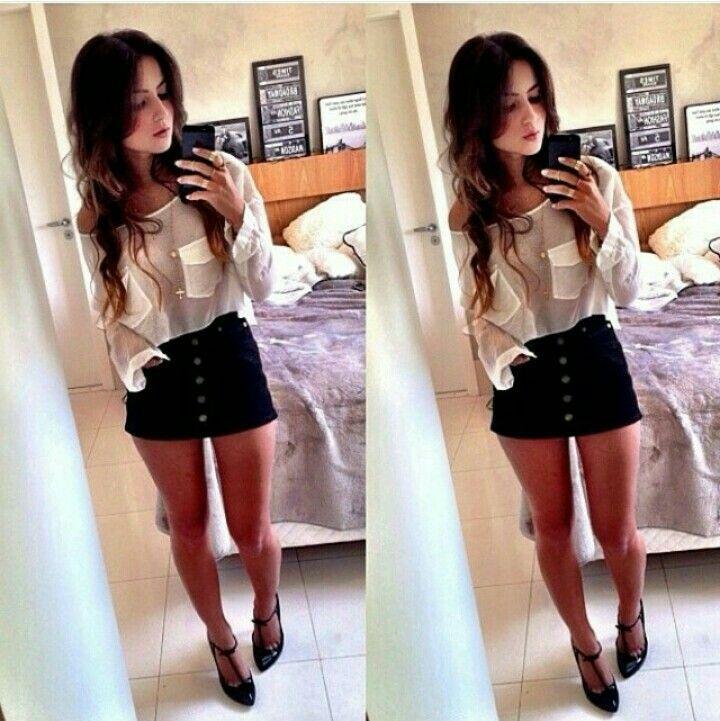 Short com camisa branca bem look