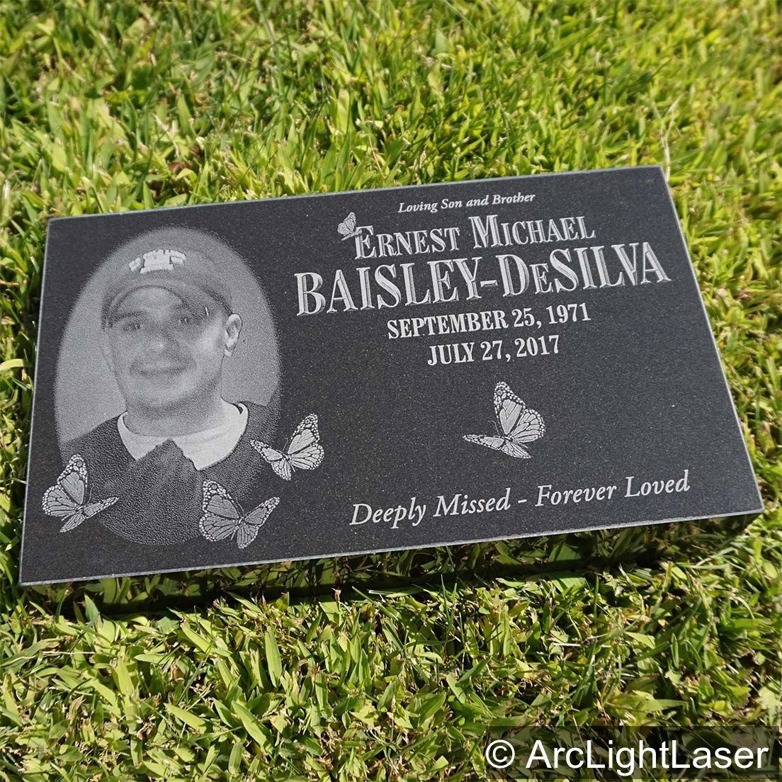 Our Custom Memorial Markers Look Beautiful In A Memory Garden As