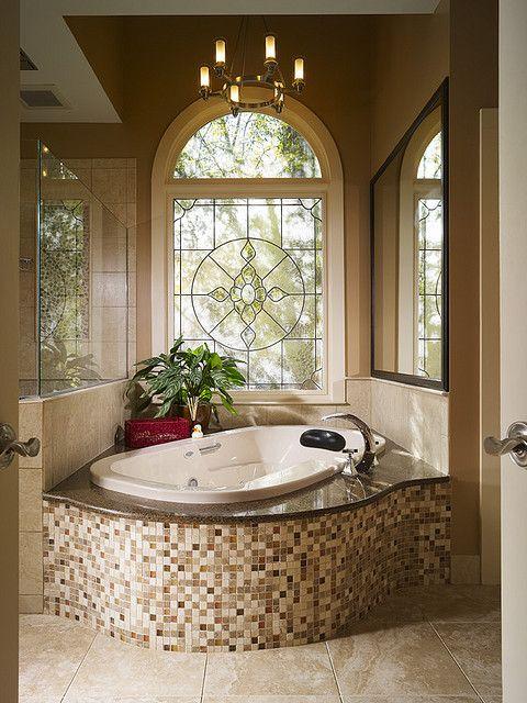 Tub window Luxury bathtub, Bathroom interior design