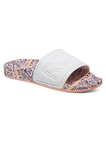 59ccf8eafc45c9 Roxy Womens Slippy Slipon Slide Sandal Peach Cream 9 M US     See this  great product.