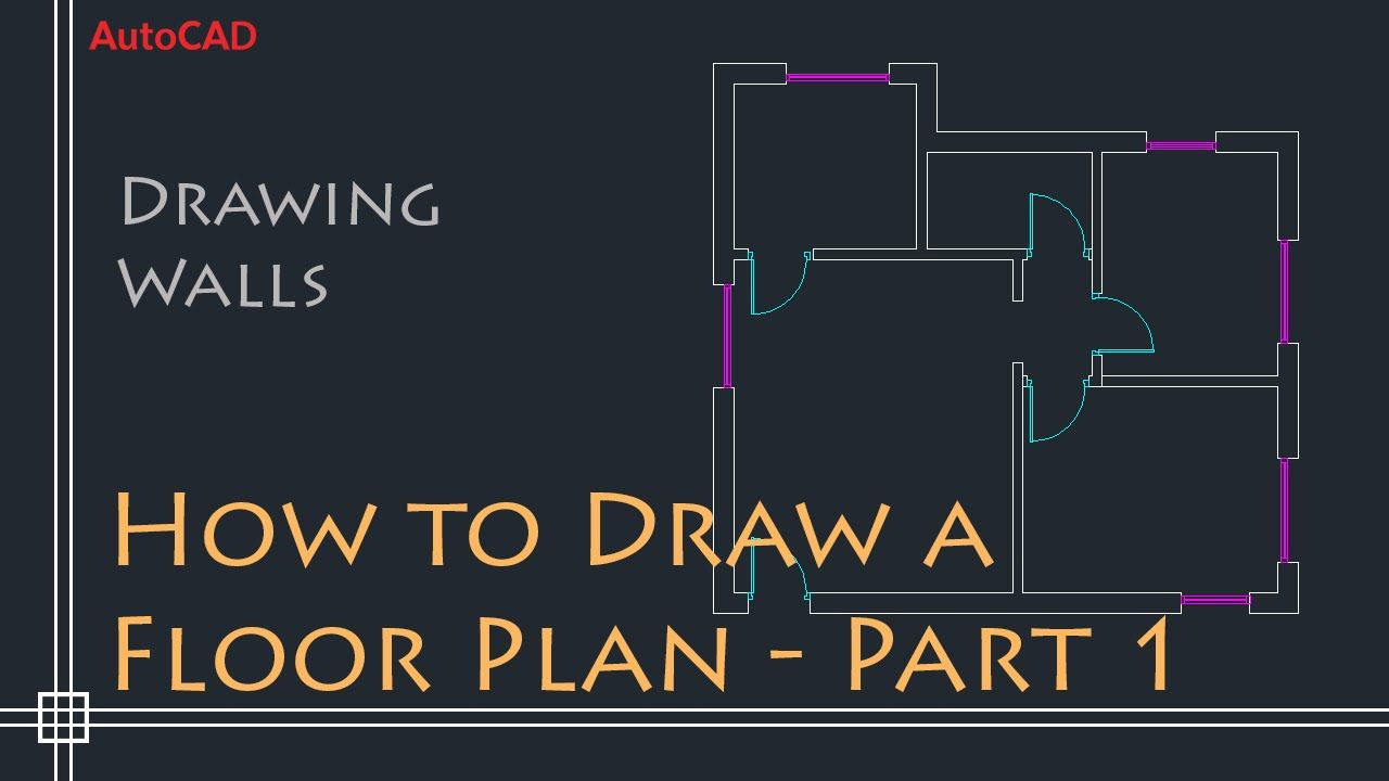 Autocad 2d Basics Tutorial To Draw A Simple Floor Plan Fast And