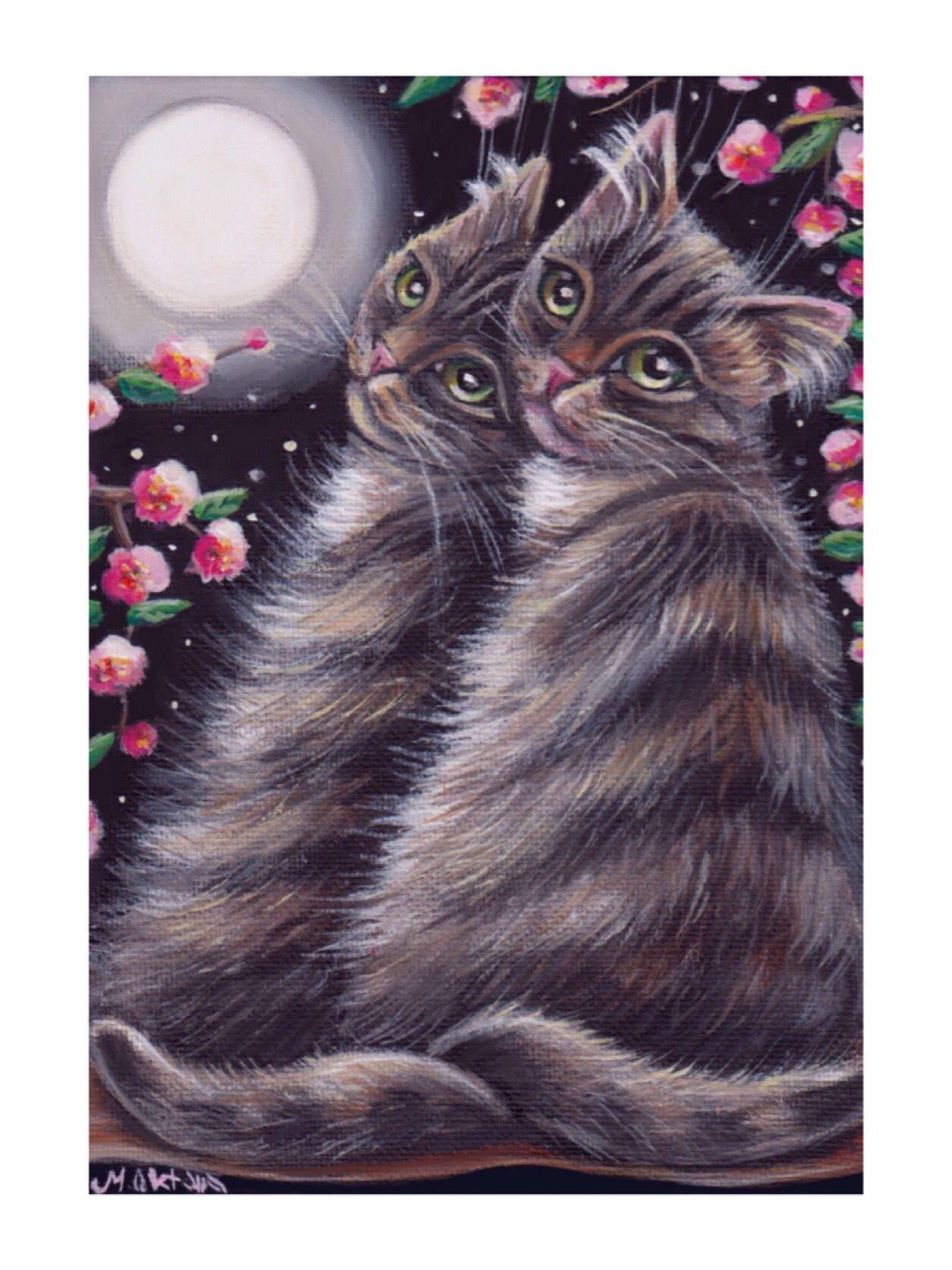 A Personal Favorite From My Etsy Shop Https Www Etsy Com Listing 565661318 Gray Tabby Cat Valentines Day Gift Grey Tabby Cats Orange Tabby Cats Tabby Cat