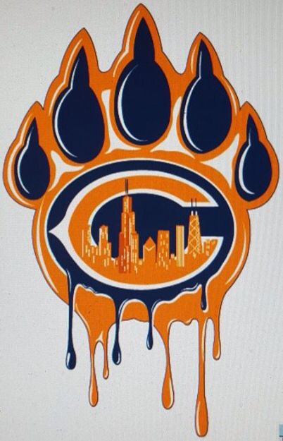 Chicago bleeds Orange & Blue … | Chicago Bears | Chicago