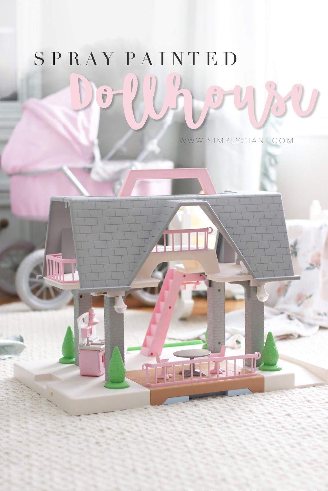 Spray Painted Dollhouse Transformation | Simply Ciani