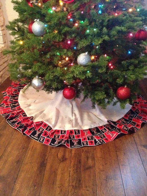 Texas Tech Christmas Tree Skirt Tree skirts and Christmas tree