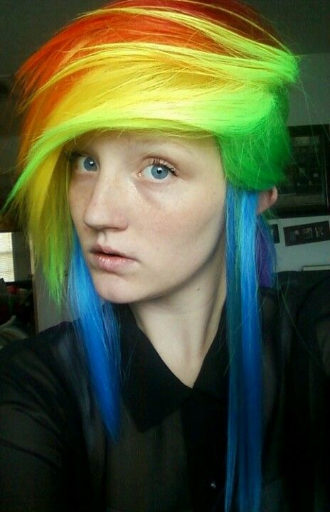 Rainbow Dash Hair Neeed Hair Inspiration Color Fairytale Hair Rainbow Hair