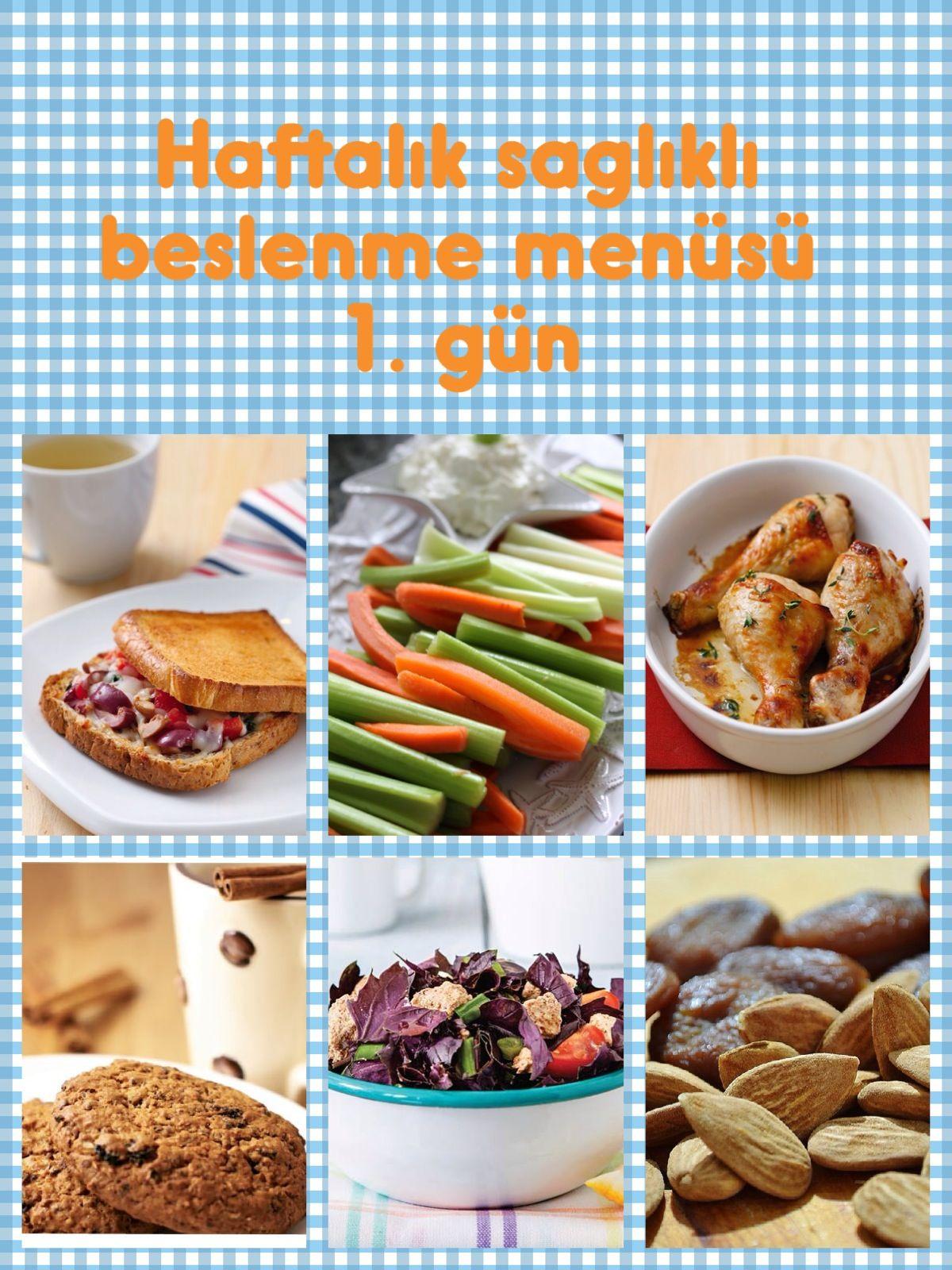 1 Haftalık Sağlıklı Zayıflama Menüsü