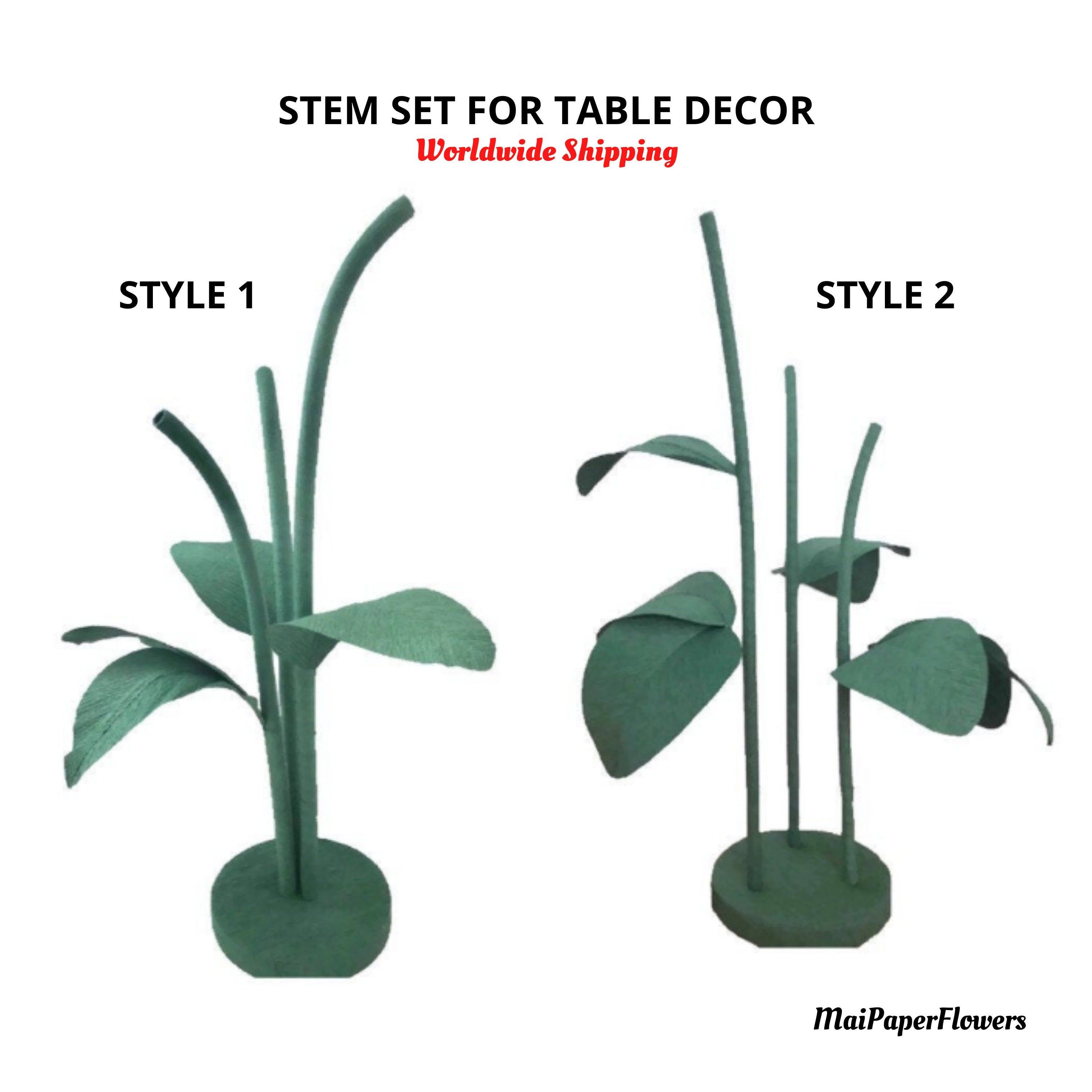 Stems For Giant Paper Flowers Giant Paper Flower Stand Free