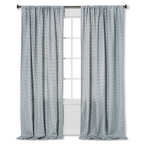 Woven Curtain Panel Gray 54 Quot X84 Quot Nate Berkus A