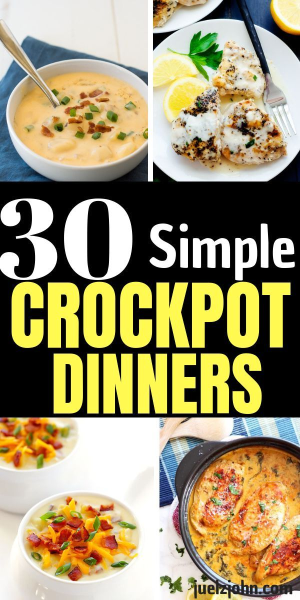 30 Quick Easy Crock Pot Meals You Can't Resist images