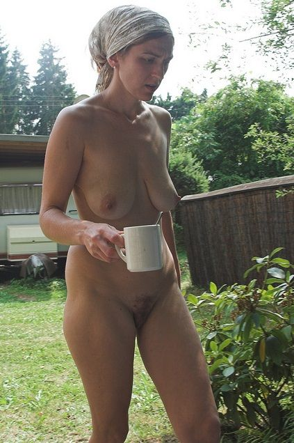 from Niko naked babe drinking coffee