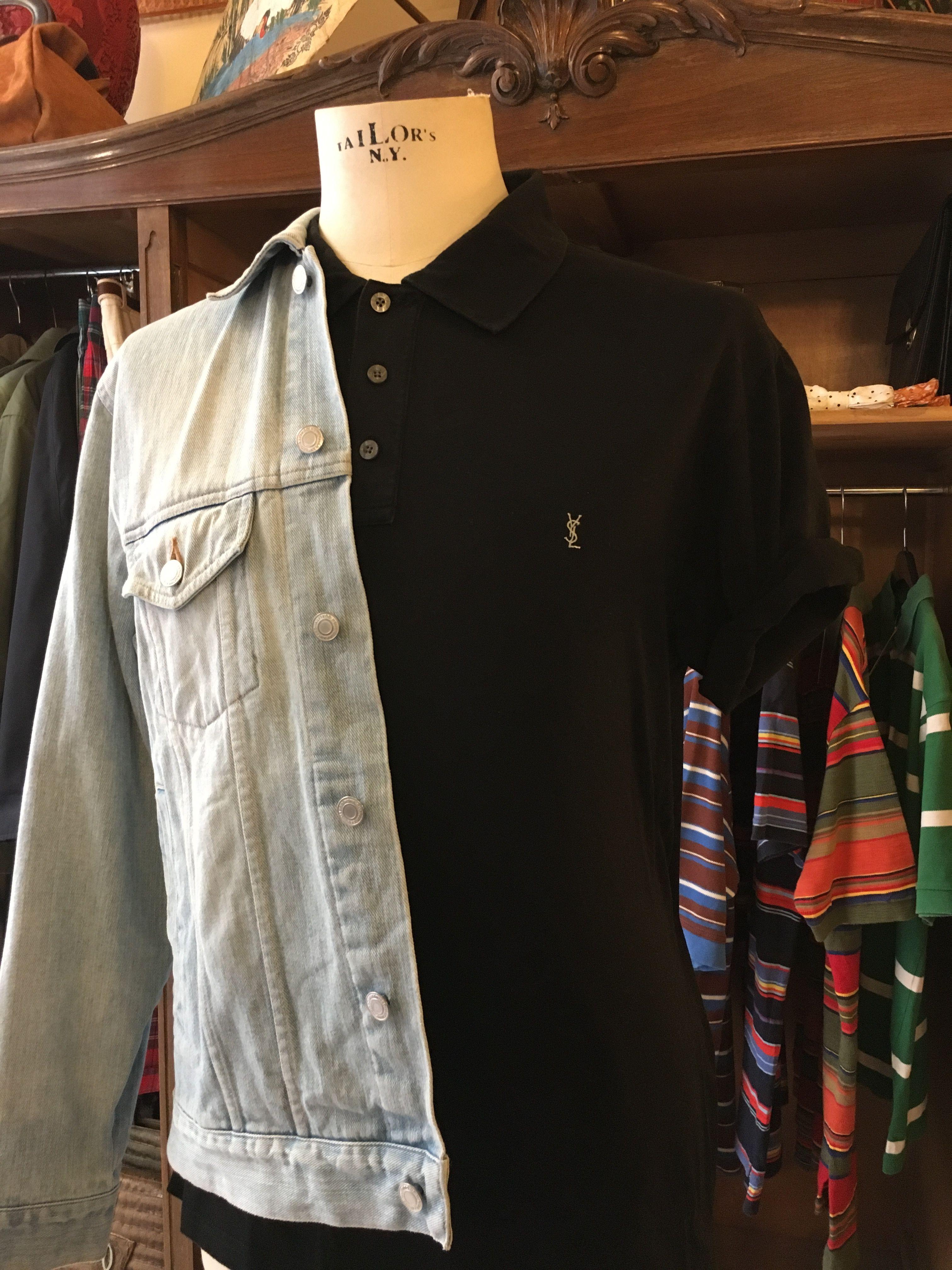 #Cazadora #denim y #polo #ysl... ¿te gusta? #vintage #shop #store #outfit #pic #look #elche #alicante #murcia #spain