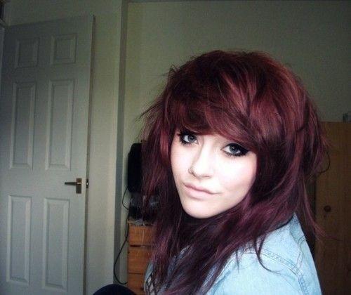 Enjoyable 36 Deep Burgundy Brown Lorea Hair Color Tumblr Hair Hairstyles For Women Draintrainus