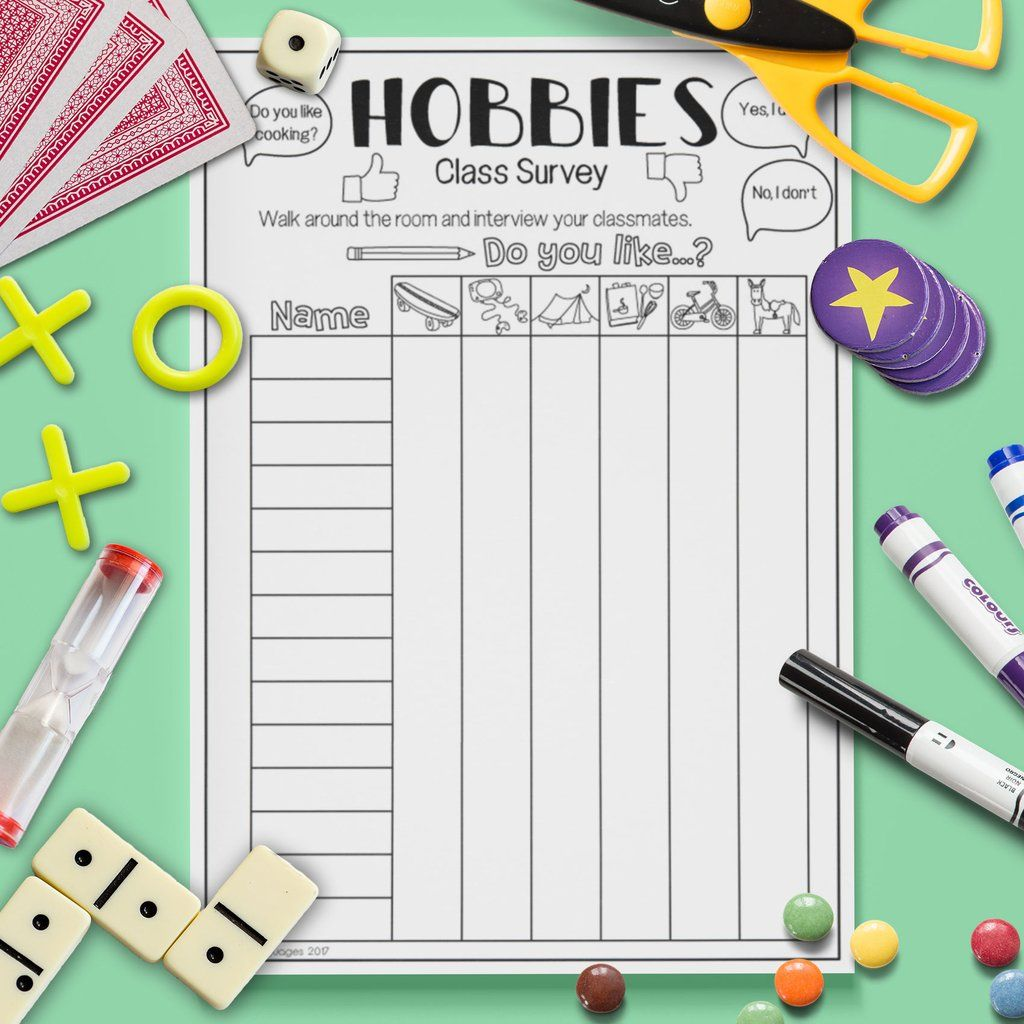 Hobbies Class Survey Hobbies For Kids Hobby Classes Hobbies For Adults
