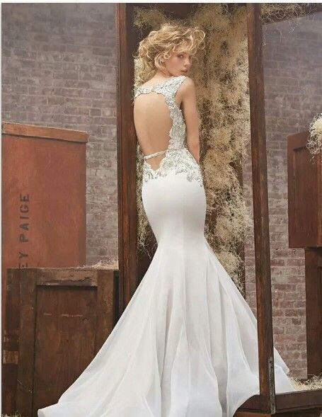 Back Out Wedding Gown