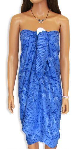 Rayon Beach Sarong Cover - Blue - Shaka Time Hawaii Shirt Co.