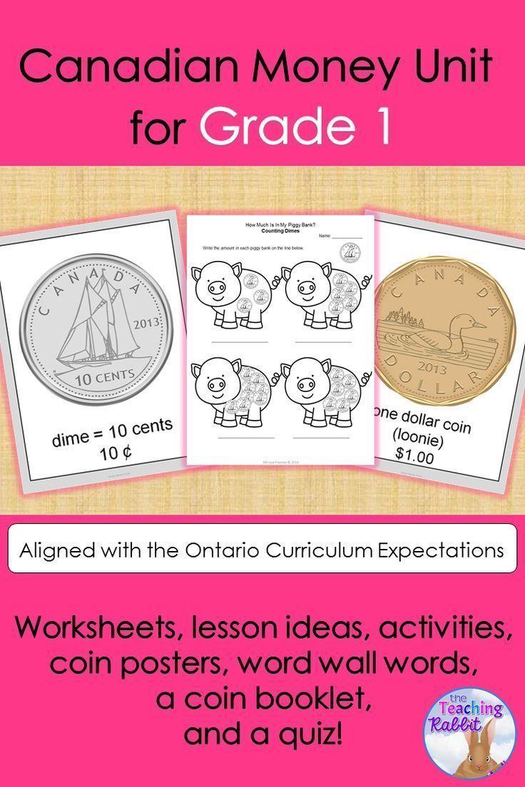 Canadian Money Unit (Grade 1) Ontario curriculum, Money