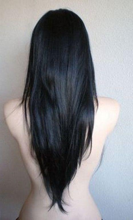 Lange haare v form