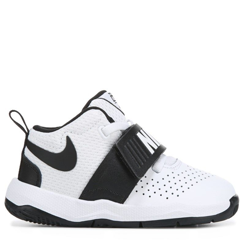 d746ed845a Nike Kids' Team Hustle 8 Just Do It Basketball Shoe Toddler Shoes (White/ Black)