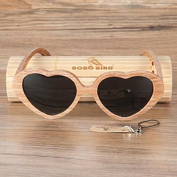 5c245294bb0 BOBO BIRD Brand Wood Sunglasses Women and Men Heart-shaped Sunglasses