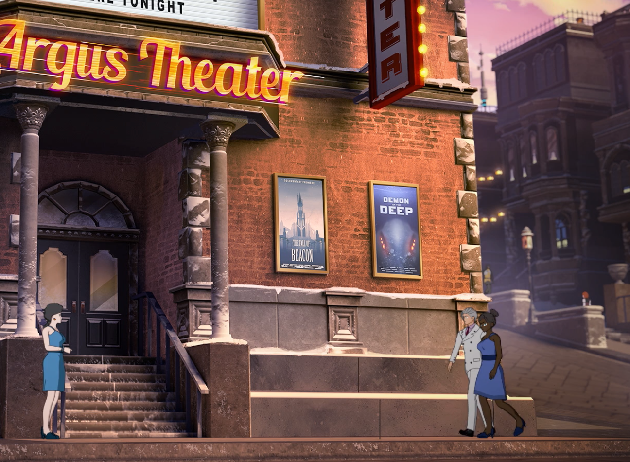 Argus Theater is now showing; The Fall of Beacon the Movie