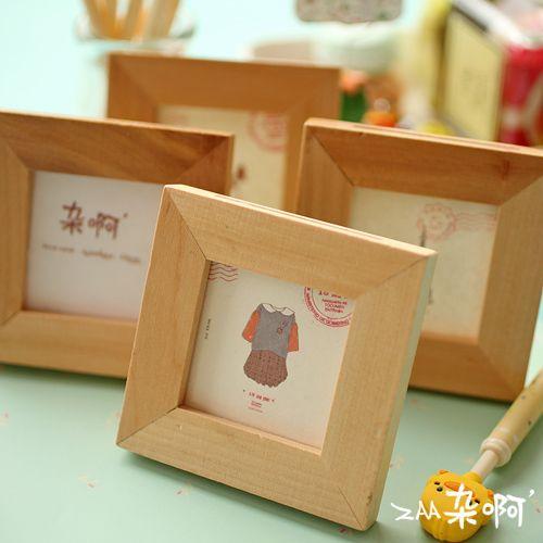 Wood zaa mount log brief desktop photo frame mini zakka small ...