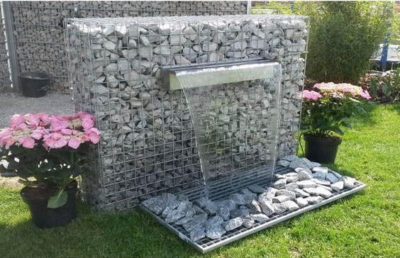 20 Fabulous Gabion Ideas For Your Outdoor Area The Art In Life Water Features In The Garden Gabion Wall Garden Design