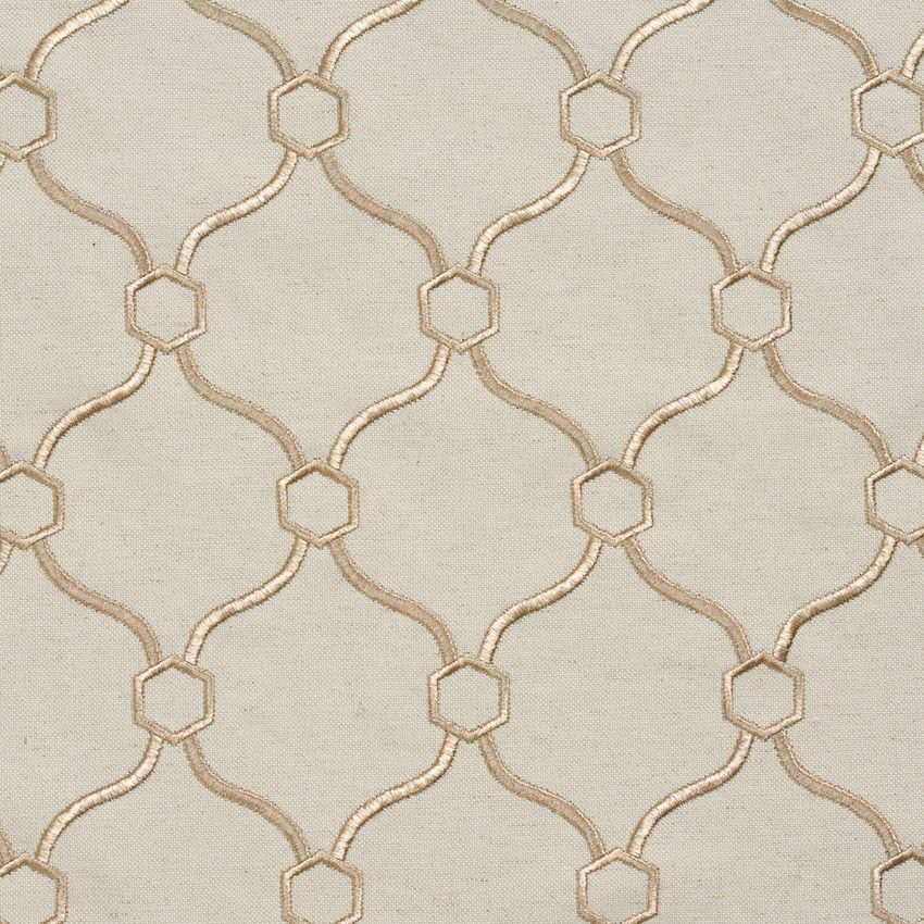 Gold And White Contemporary Damask Drapery And Upholstery Fabric