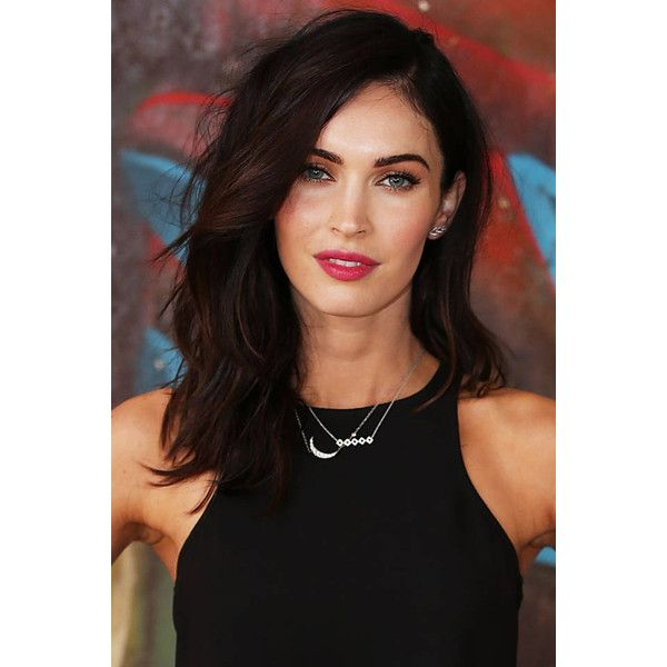 Megan Fox Debuts A Chic New Cut ❤ liked on Polyvore featuring megan fox and megan