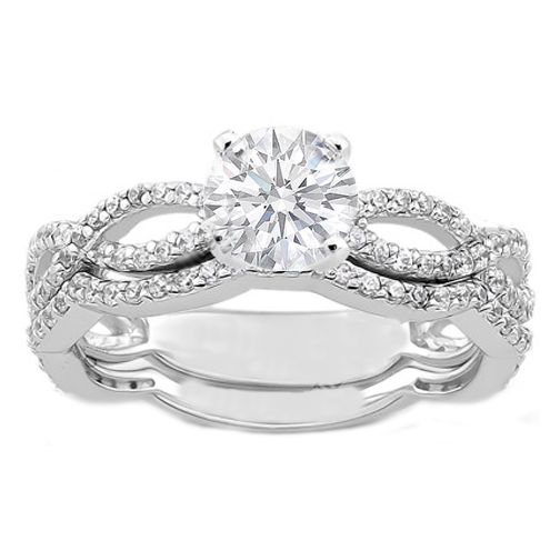 Infinity Engagement Ring and Matching Wedding Band The Kiss Pinterest