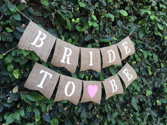 Bride To Be Banner Bridal Shower Rustic