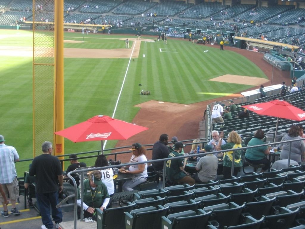 Oakland A S Seating Chart Oakland Coliseum Seating Charts The Row