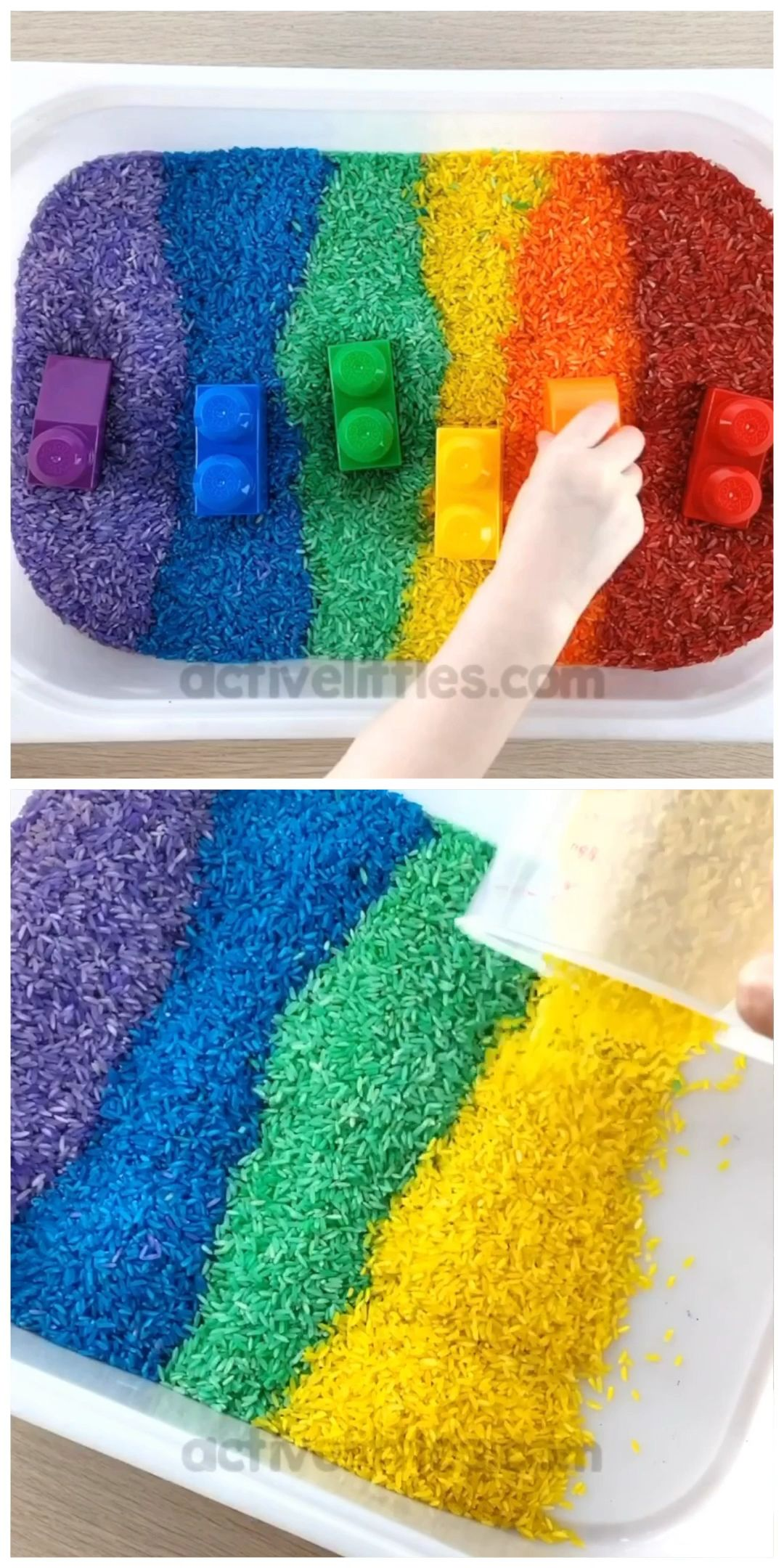 Photo of How to dye rainbow rice for kids